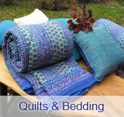 Printed quilts and duvet covers