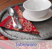 Tablewear, tablecloth, napkins and placemats.