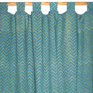 zigzag printed curtains